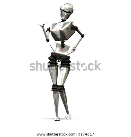 Female robot, that waits for the guests.