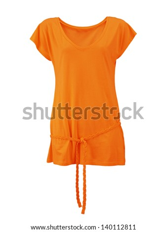 female shirt isolated on white background