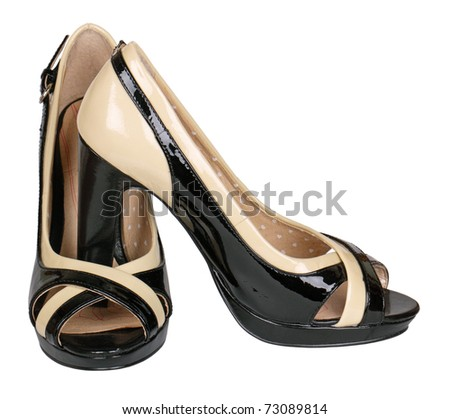 Female shoes, it is isolated on a white background