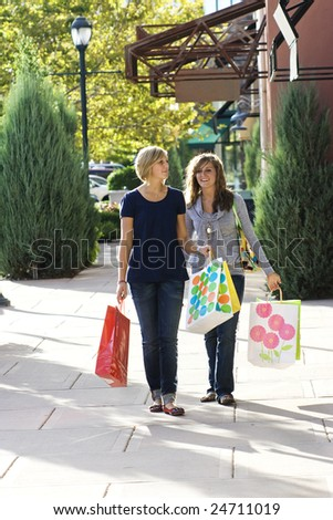 Female Shoppers - stock photo