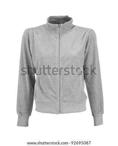 female sport jacket isolated on white background