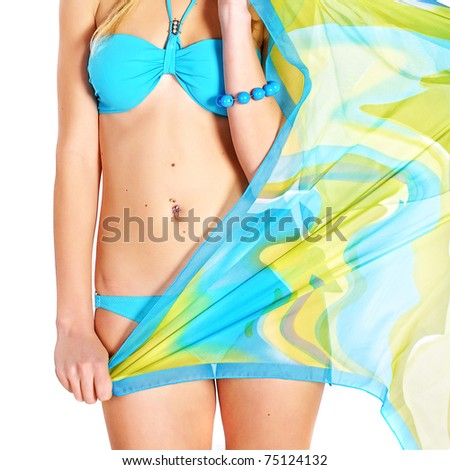 female stomach - stock photo