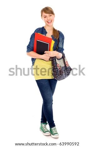 Female student - stock photo