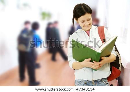 Female Student Portrait - stock photo