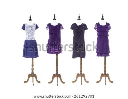 female sundress on four dummy   - stock photo