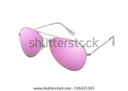Female sunglasses isolated on white background - stock photo