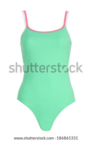 female swimsuit isolated on white background