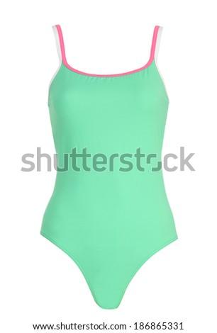 female swimsuit isolated on white background  - stock photo