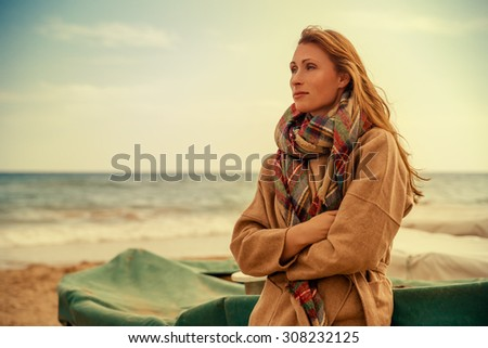 female taking outtime from stressful job - stock photo