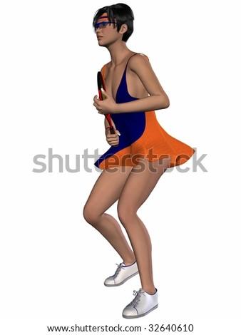 Female Tennis Player - stock photo