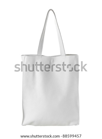 female white leather bag isolated on white