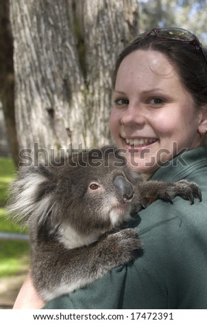 Female with Koala in arms