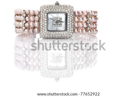 female wrist watch - stock photo