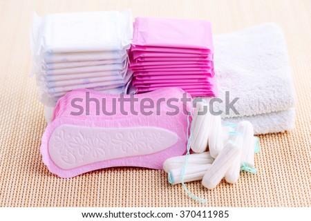 feminine hygiene - beauty treatment - stock photo
