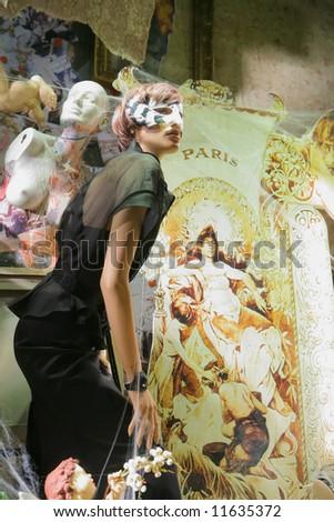 Feminine mannequin in beautiful fashionable cloth, festive luxury - stock photo