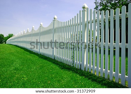 fence - stock photo