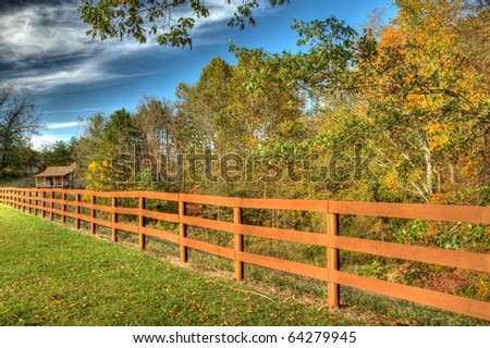 Fence and Rustic cabin