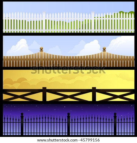 Fence banners - raster