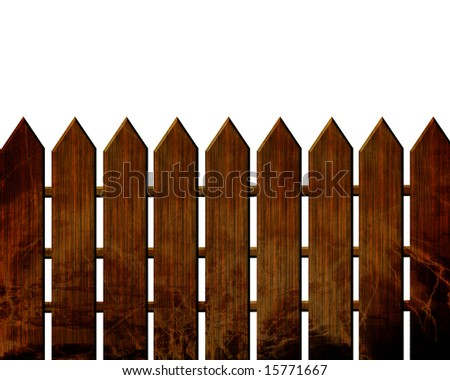 Fence isolated on a solid white background