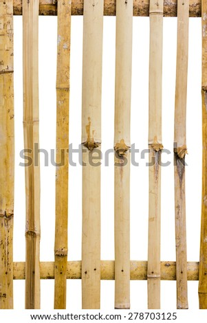 fence made of bamboo.