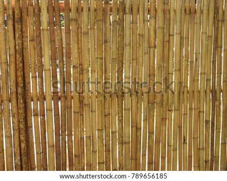 Fence made of bamboo