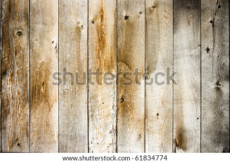 fence weathered wood background - stock photo