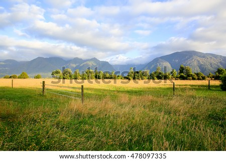 Fenced place for walking cows. Haast, West Coast of New Zealand's South Island.