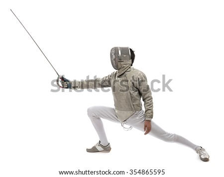 Fencing Athlete - stock photo