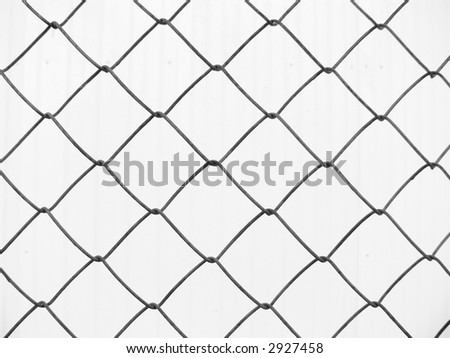 Fencing from an iron grid on a light background
