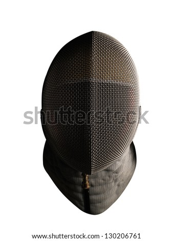 Fencing mask isolated - stock photo