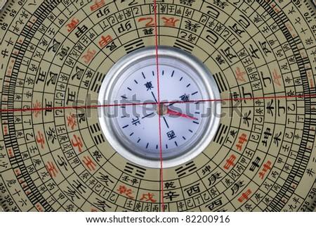 Feng-Shui Compass Lo Pan - stock photo