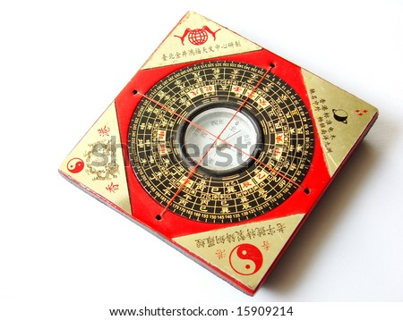Feng shui compass (Luopan). - stock photo