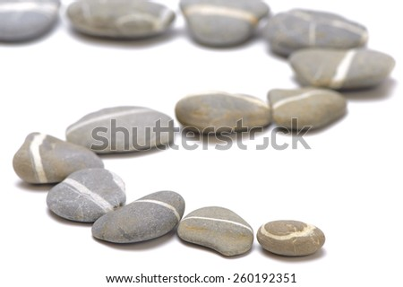 feng shui with way of stones over white background - stock photo