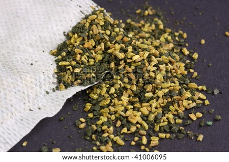 fennel tea and tea bag