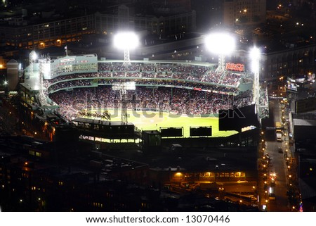 Fenway baseball park at night - stock photo