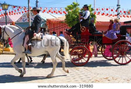 Feria de Abril,Sevilla,Spain - stock photo