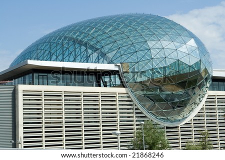 Feria Valencia Glass Dome - stock photo