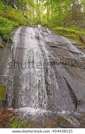 Fern Branch Falls in the Smoky Mountains in the Spring - stock photo