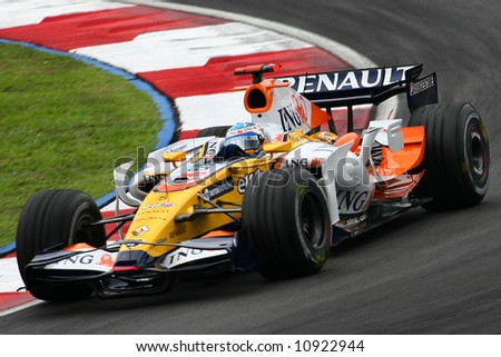 Fernando Alonso 2008 - stock photo