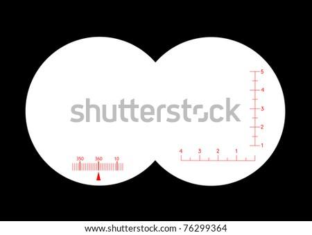 Fernglas mit nachtsichtfunktion stock illustration