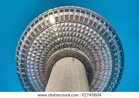 Fernsehturm (Television Tower) located at Alexanderplatz in Berlin, Germany - stock photo