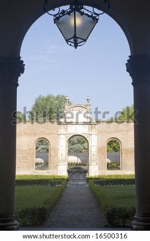 Ferrara (Emilia Romagna, Italy) - Ancient palace called Palazzo dei Diamanti, Renaissance era - stock photo