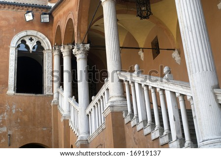 Ferrara (Emilia Romagna, Italy) - Staircase of an ancient building