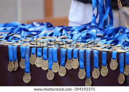 Ferrara, Italy - 20 march 2016 - INTERNATIONAL FERRARA MARATHON - The event sees the participation, only in the two competitive races (Marathon and Half Marathon) to almost 2,000 athletes. - stock photo