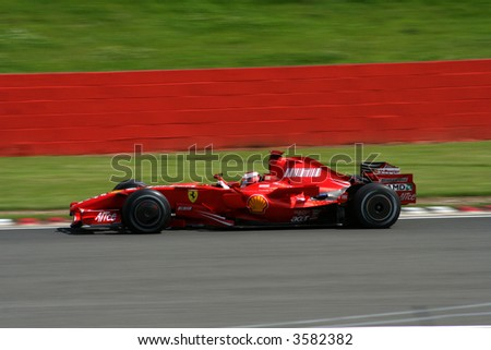 Ferrari Formula 1 Car at Silverstone Test
