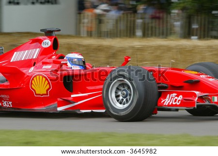 Ferrari Formula 1 racing car at Goodwood Festival of Speed