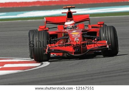 Ferrari's Finnish F1 driver Kimi Raikkonnen - stock photo