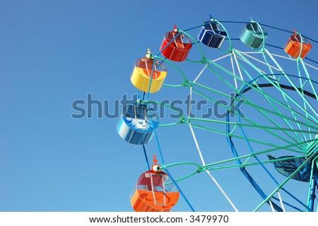 Ferris in spring park - stock photo