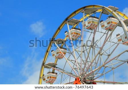 Ferris Wheel Abstract - stock photo