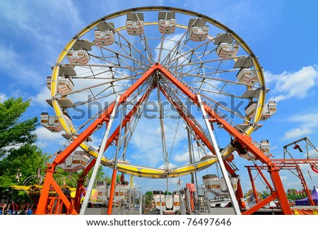 Ferris Wheel Abstract - stock photo